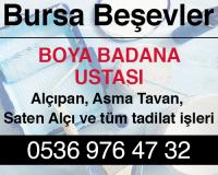 Bursa Beşevler Alçıpan Ustası