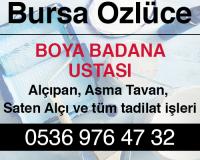 Bursa Özlüce Boya Badana Ustası
